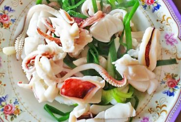 Boiled squid