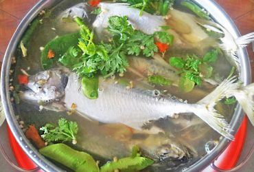 Hot and sour Tom Yum soup with mackerel