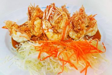 Fried Prawns With Fried Garlic